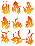 Nine fire icon