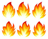 Six fire icon