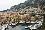 View Monaco neighborhoods. The beautiful Mediterranean Coast. Cote d'Azur