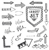 Hand drawn arrow icons set isolated on white background.