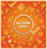 Autumn sale banner.