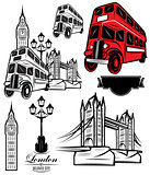 vector templates London attractions and transport for design