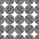 Black vector modern seamless pattern