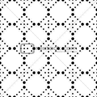 Black vector modern seamless pattern
