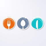 Colorful abstract restaurant menu design