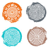 Vintage geometric abstract mandala collection