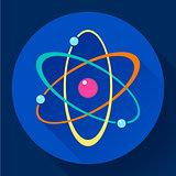 Flat atom icon