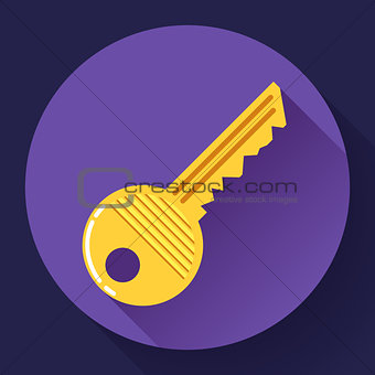 Site profile, House or car kay - entrance symbol, password icon, and security