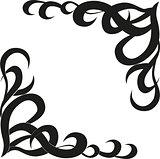 Calligraphic design element of frame and page decoration