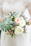 Bouquet from spring flowers. Wedding .