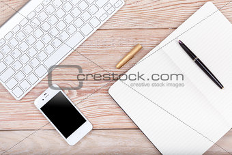 Business concept photo: keyboard, mouse, paper, ink pen