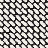 Vector Seamless Black And White Jumble Lines Pattern