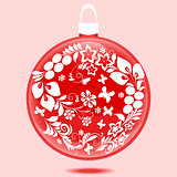 Christmas ball with ornament