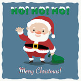 Santa Claus is waving with Marry Christmas