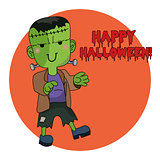 Cute Halloween character - Frankenstein