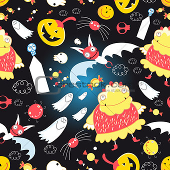 Bright pattern with for Halloween