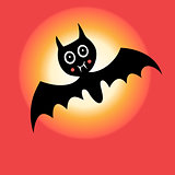 Graphics bat for Halloween