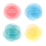 Set of colorful abstract banners