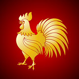 Vector illustration of rooster, symbol on the Chinese calendar.