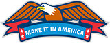 Make It In America Banner Eagle Retro