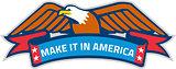 Make It In America Banner Eagle Retro