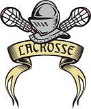 Knight Armor Lacrosse Stick Woodcut