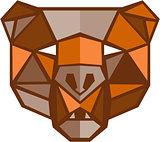 Brown Bear Head Low Polygon