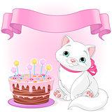 Cat Birthday Celebrating