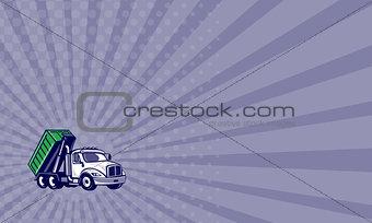 Business card Roll-Off Truck Bin Truck Cartoon