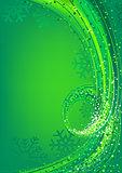 Green Abstract Christmas Greeting