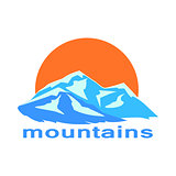 Mountains and the sun symbolic