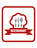 red restaurant icon