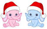 Christmas baby elephants