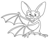 Outlined bat