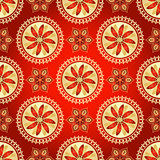 Floral dark red seamless pattern