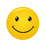 Modern yellow laughing happy smile