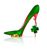 green red shoe