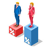 Election Infographic Pools Presidential Vector Isometric People