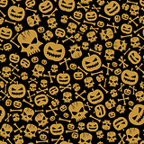 Vector Halloween Seamless Background