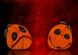 3D grunge Halloween pumpkin background