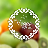 Decorative vegan menu design
