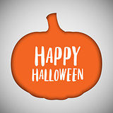 Halloween background pumpkin cut out shape