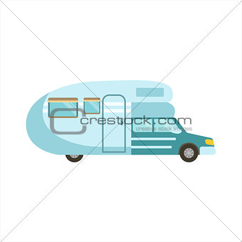 Grey Stripy Travel Van