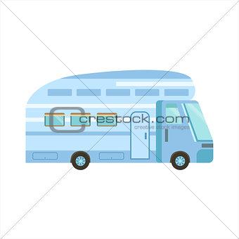 Blue Modern Travel Van