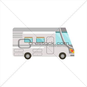Grey Stripy Travel Van