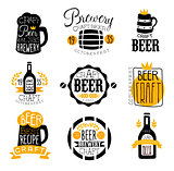 Craft Brewery Set Of Logo Design Templates