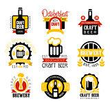 Craft Beer Set Of Logo Design Templates