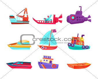 Water Transport Toy Boats Set