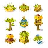Video Game Indian Village Design Collection Of Elements