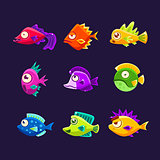 Colorful Tropical Fish Collection